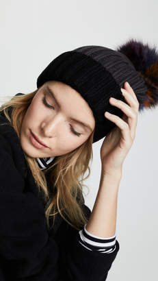 2699765d02fb6 Knitted Hat With Fur Pom Pom - ShopStyle Canada