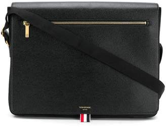 Thom Browne Pebbled Leather Slim Messenger Bag