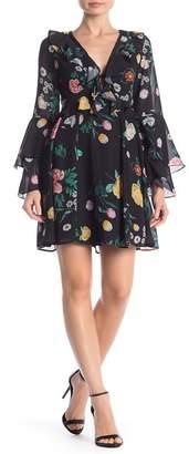 Yumi Kim Celeste Plunge V-Neck Floral Dress