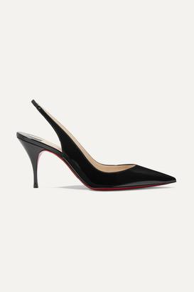2d436505feb0 Christian Louboutin Clare 80 Patent-leather Slingback Pumps - Black