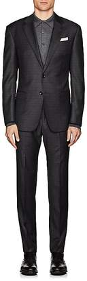 Giorgio Armani Men's Soft Plaid Wool Two-Button Suit
