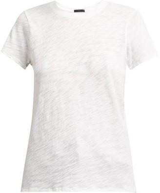 Atm - Round Neck Cotton Slub Jersey T Shirt - Womens - White