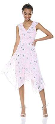 Kensie Dress Women's Midi Floral Printed Dress