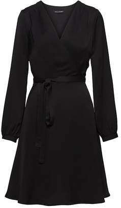 Banana Republic Wrap-Effect Fit-and-Flare Dress