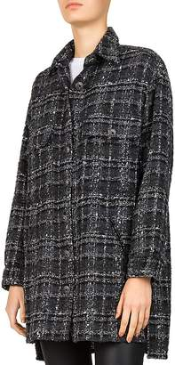 The Kooples Tweed Checker-Box Shirt
