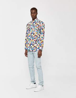 Gitman Brothers GV x Magnafied Oversized Oxford Shirt in Multi Camo