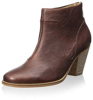 J Shoes Women's Belgrave Stacked Block Heel Bootie