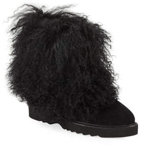 1829880ab6c Aquatalia Kaegan Fur-Trim Booties
