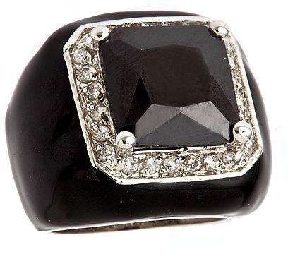 Blu Bijoux Black Cocktail Ring