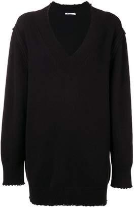 Alexander Wang distressed sweater dress