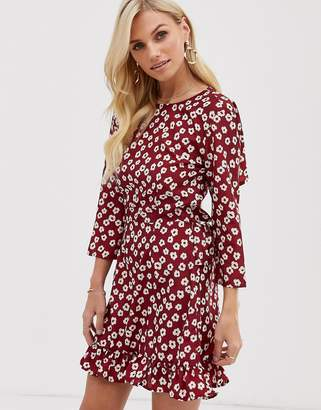 UNIQUE21 floral dress with open back