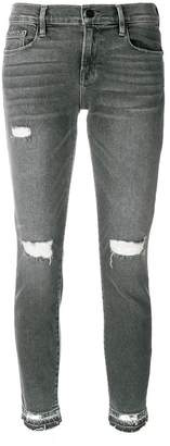 Frame distressed detail jeans