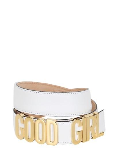 Moschino 35mm Good Girl Leather Low Waist Belt