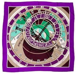 Hermes Mécanique Du Temps Silk Scarf