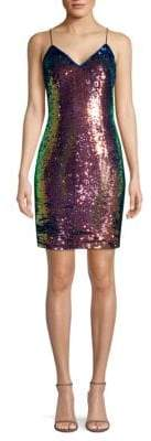 Aidan Mattox Flip Sequin Cocktail Dress