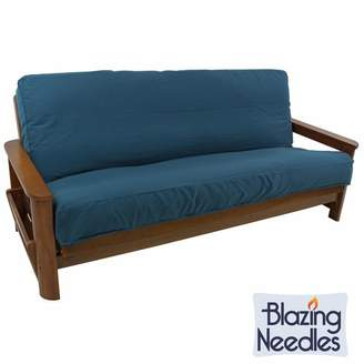 Blazing Needles Solid Twill Box Cushion Futon Slipcover