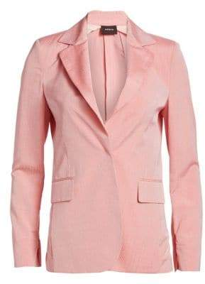 Akris Ace Zip Sleeve Seersucker Blazer
