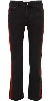 Victoria Beckham Victoria, Striped Cropped Slim-leg Jeans
