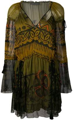 Alberta Ferretti (アルベルタ フェレッティ) - Alberta Ferretti カラーブロック ドレス