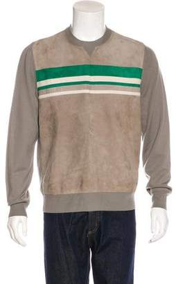 Hermes Striped Wool & Leather Sweater