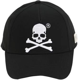 20297fbbc3b Philipp Plein Embroidered Cotton Canvas Baseball Hat
