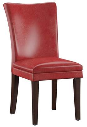 Inspire Q Set of 2 Nosse Parson Dining Chairs Faux Leather Wine Red