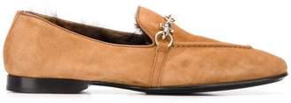Cesare Paciotti chain trim loafers