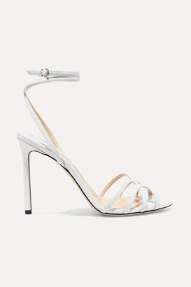 Jimmy Choo Mimi 100 Leather Sandals - White