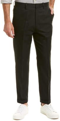 Vince Cuffed Silk & Linen-Blend Trouser