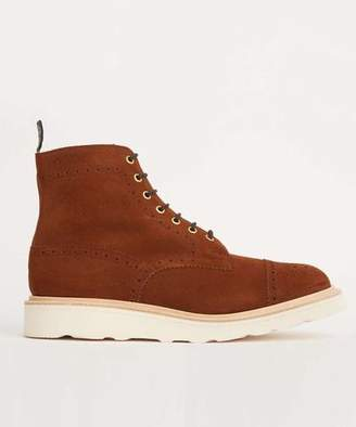 Tricker's Limited Edition Suede Cap Toe Boot in Snuff Brown