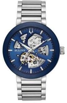 Bulova Modern Automatic Silvertone 96A204 Bracelet Watch