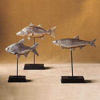 Silver Fish on Stand