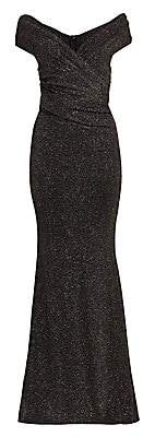 Talbot Runhof Women's Lurex V-Neck Bodycon Gown