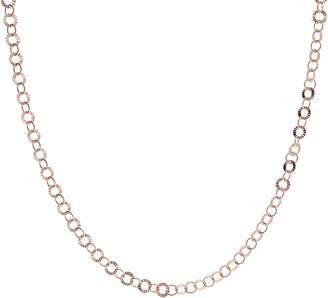 "Bronzo Italia 24"" Starburst Diamond Cut Round Link Necklace"