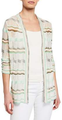 M Missoni Long-Sleeve Patterned Cardigan
