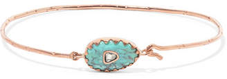 Pascale Monvoisin Orso N°1 9-karat Rose Gold, Turquoise And Diamond Bracelet