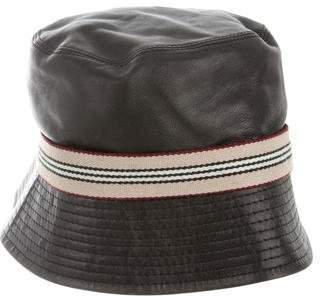 Leather Bucket Hat - ShopStyle 239aaec359a2