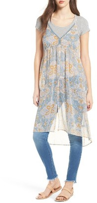 Women's Sun & Shadow Print Sheer Tunic $49 thestylecure.com