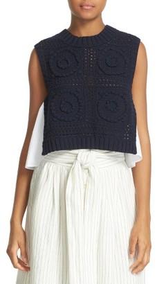 Women's Sea Mixed Media Knit Shell $355 thestylecure.com