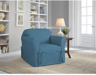 Serta Cotton Duck Box Cushion Armchair Slipcover