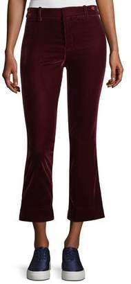 Derek Lam 10 Crosby Cropped Flare Velvet Trousers