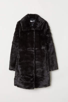 H&M Faux Fur Coat - Black