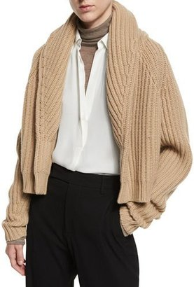 Vince Cropped Cable-Knit Cardigan, Caramel $425 thestylecure.com