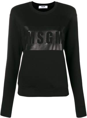 MSGM logo outline sweatshirt