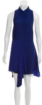 3.1 Phillip Lim Silk-Accented Knee-Length Dress
