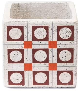 ZUO Modern Red/Orange Cement Squares Planter