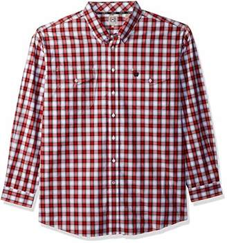 Cinch Men's Classic Fit Long Sleeve Button Two Flap Pocket Plaid Shirt