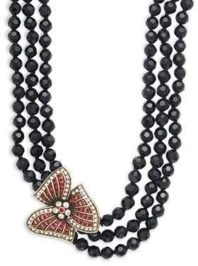 Heidi Daus Holiday Asymmetric Beaded Multi-Strand Necklace