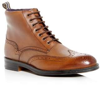 Ted Baker Men's Twrens Leather Brogue Wingtip Boots
