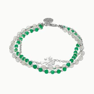 Love This Life love this life Aventurine & Agate 3-Strand Tree Charm Bracelet